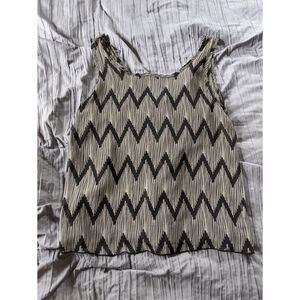 Chevron short sleeve blouse